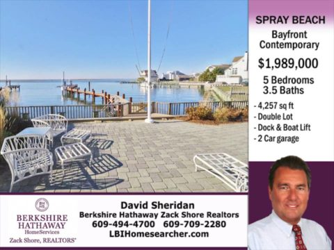 Spray Beach Bayfront Home For Sale