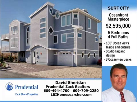 Surf City LBI Oceanfront Contemporary Home For Sale